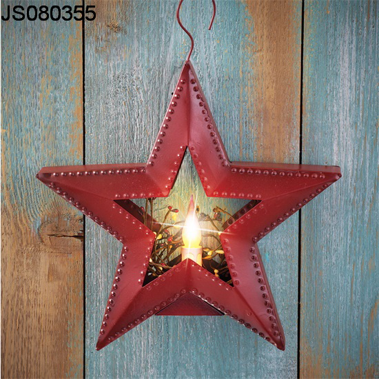 2016 New Christmas decoration, Star wall hanging with led candle