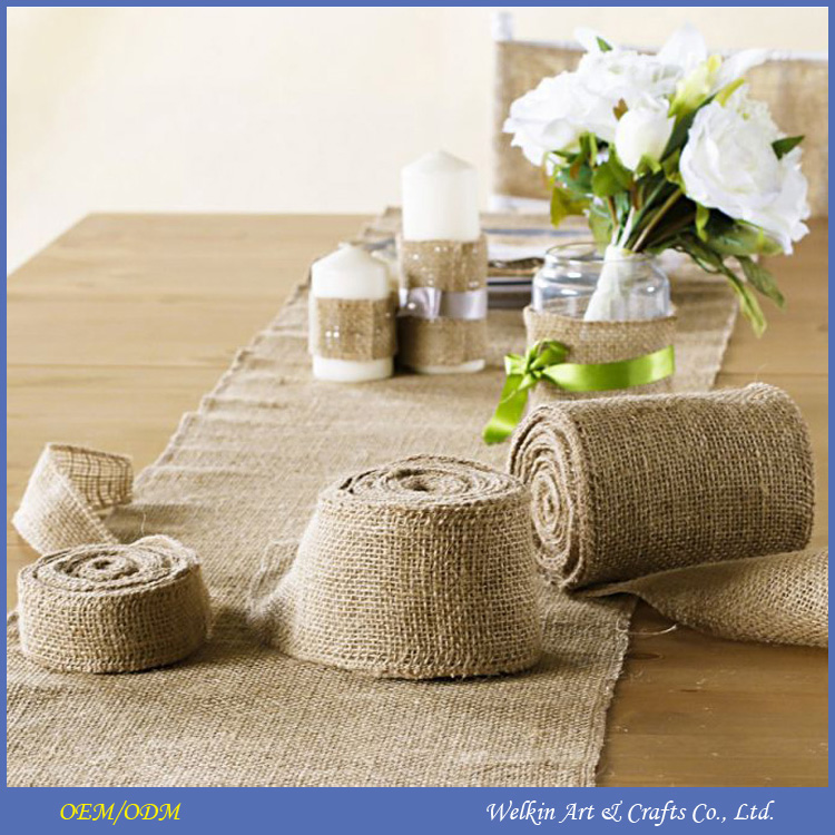 Cheap burlap jute fabric roll for decorations