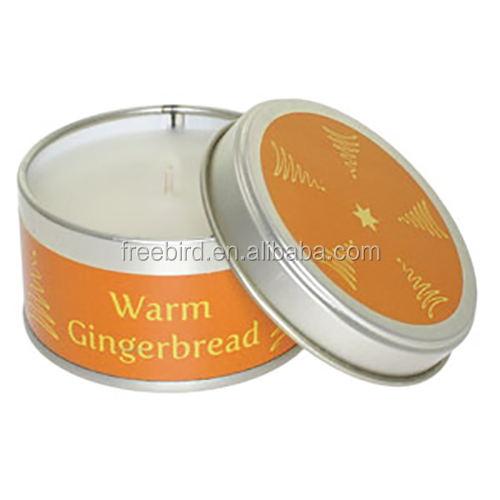 Warm Gingerbread Scented Soy Tin Party Candle