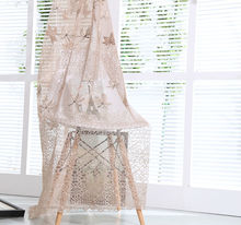 Luxury hotel embroidery sheer window curtain drapery from China