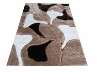 dark color 1200D pattern 100%polyester leaf design 4cm pile shaggy rug/carpet/floor mat manufacturer