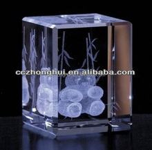 Artistic animal 3d laser engraved Crystal Cube