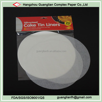 Custom Microwave and Oven Safe Siliconised Cake Tin Liners