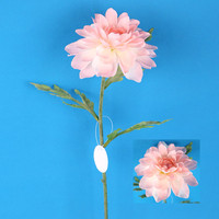 Pretty artificial pink stem dahlia