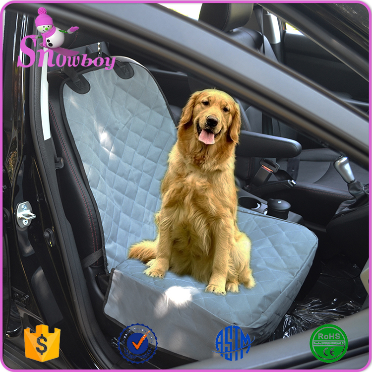 Suede Quilted Nonslip Backing Pet Car Front Seat Cover Fits Most Cars and SUVs
