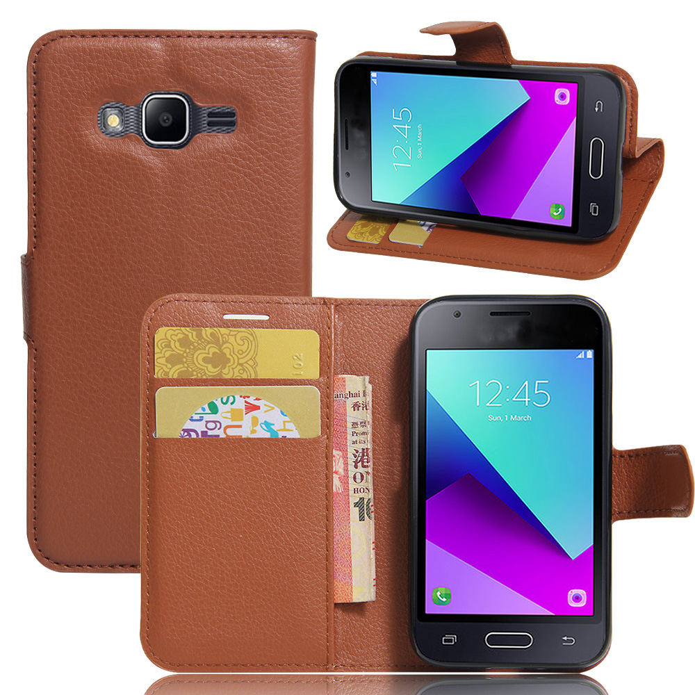 Wholesale wallet leather case for samsung <strong>J1</strong> mini Prime, flip leather mobile case for samsung <strong>J1</strong> mini Prime