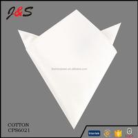 Mens Fashion 100 Cotton White Handkerchief
