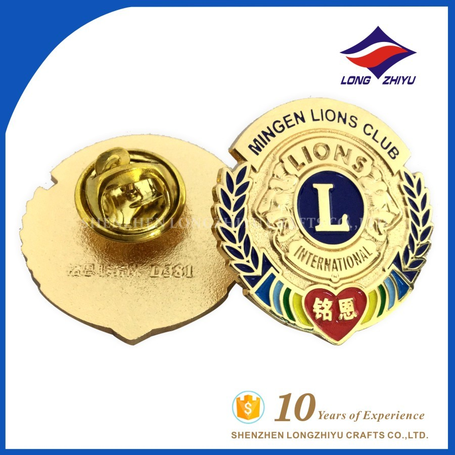 Making Custom Lapel Pin Metal Medallion For Lions Club Emblem Badges