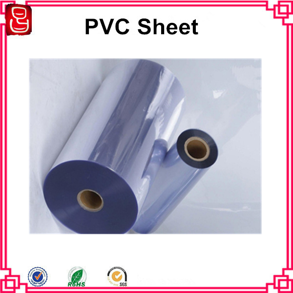 China Semi Rigid Plastic PVC Sheet Rolls Thin Tint Plastic PVC Sheet