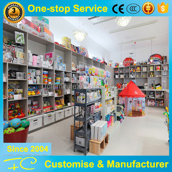Kids shop decoration display rack and toy display cabinet for retail store furniture