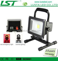 Rechargeable LED Floodlight 10W 20W Red Flash Function 24V 12V LED Work Light IP65 Outdoor Emergency LED Flood Light Bulbs