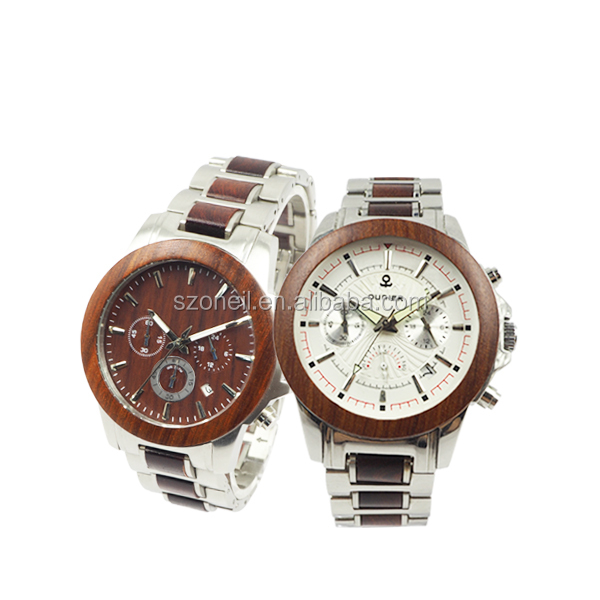 2017 <strong>HOT</strong>!! Fashion Couple Timepieces Stainless Steel & wood watch from Alibaba China manufacturer