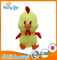 Customized bsci hot selling beautiful yellow chicken plush toys