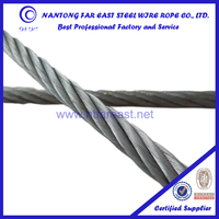 Hemp core steel wire rope 6*36WS galvanized lifting steel rope