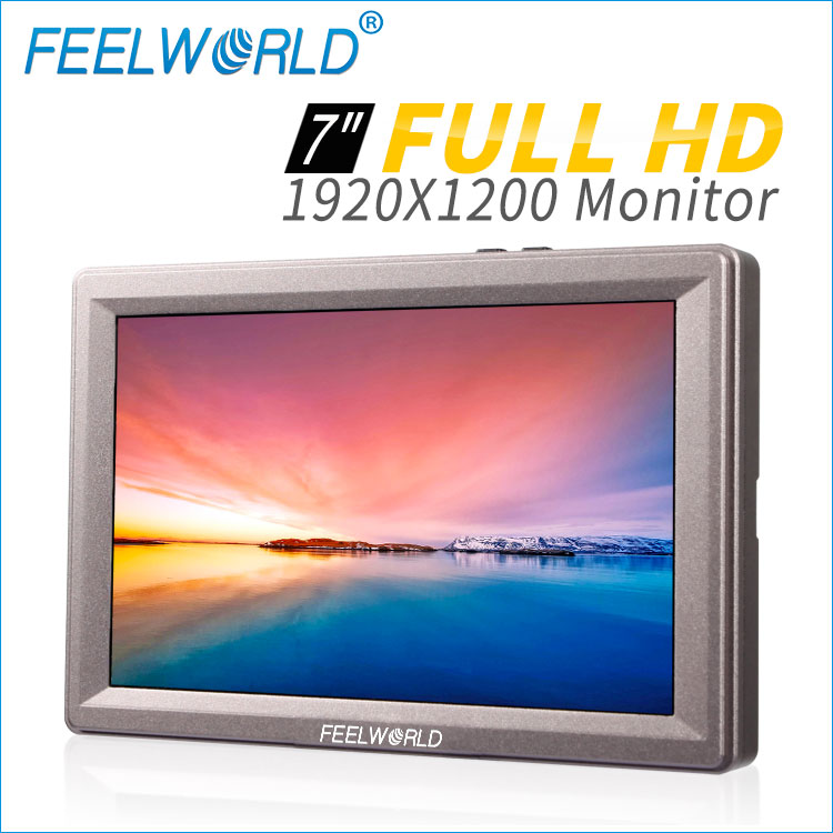 7 inch HD 1920X1200 high resolution display aluminum metal frame design super bright and clear monitor sdi