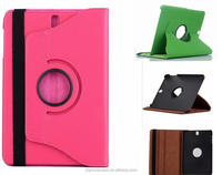 Factory supplier 360 rotation full cover premium leather flip case for Samsung Tabs Galaxy Tab S3 cheap case