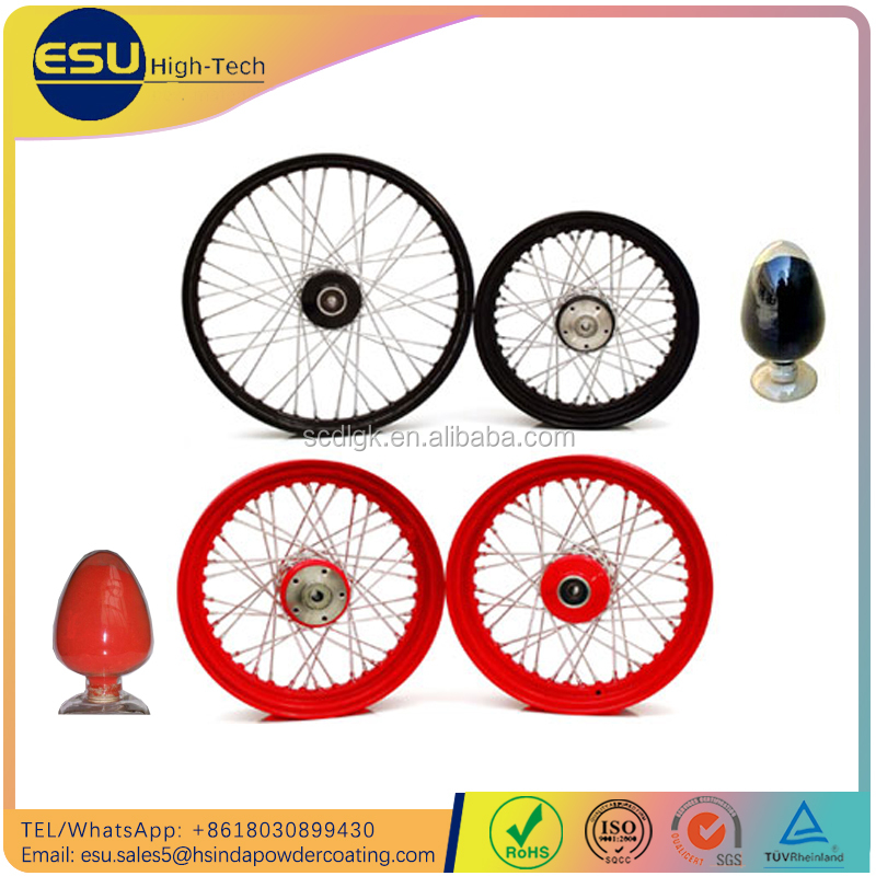 Customized color Anti pollution dirt powder coat paint for Bike rims