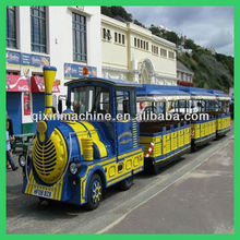 Low price attractions tourist road train used trackless train for sale