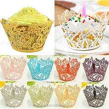 Differ butterfly printing paper cupcake cup decoration