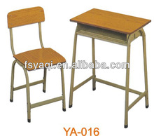Metal frame cheap price commerial wood primary school furniture YA-016