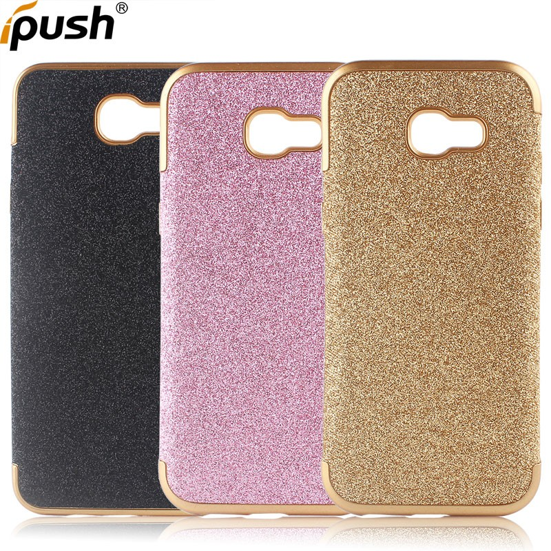 2017 Bling bling TPU case back cover for samsung A7 2017 phone case soft tpu for samsung galaxy A7 2017/ a720 case accessories