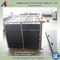 Composite HDPE Road Plates/Ground Cover Mats/Hard Hdpe Temporary Crane Mat