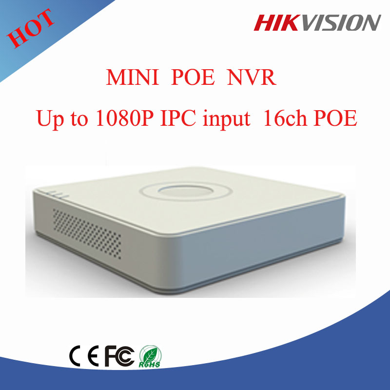 hikvision 16ch nvr 2MP HD ONVIF NVR ,Hikvision NVR POE with 1 sata