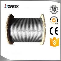 7x7 galvanized steel wire rope for crane