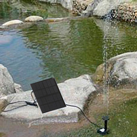 Eco-friendly Garden solar fountain with solar panel and water pump