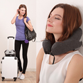Fashion top selling personalized folding pouch patent u shape neck pillow