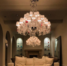 Bespoke Baccarat Style 36 Light Chandelier with Colors for A Villa in Houston U.S.A