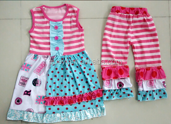 children clothing wholesale 2 piece boutique childrens clothes sets fancy baby girl clothing