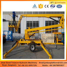 mobile vehicle mounted boom lift/ hydraulic towable boom lift trailer mounted for aerial work