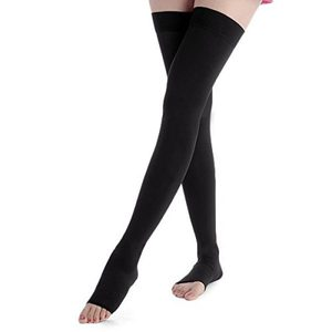Wholesale Compression Stockings Open Toe Thigh High Varicose Veins Black Sexy compression socks 20-30mmhg