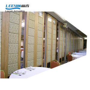 Aluminum frame customized wooden soundproof partition wall