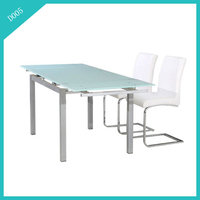 White dining table expandable