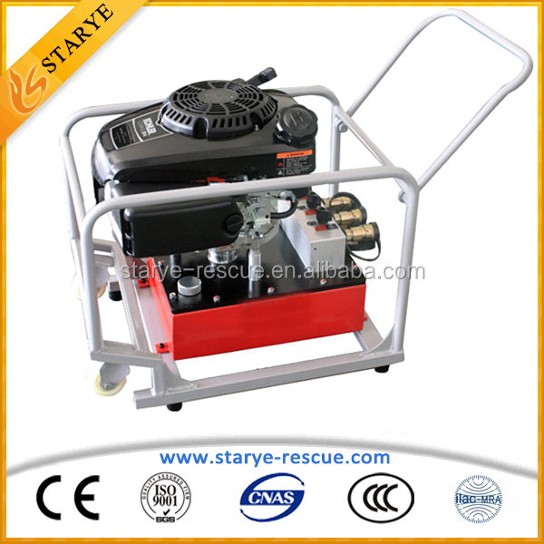 Portable 63Mpa Working Pressure Pump Hydraulic Gasoline Engine Double Output Hydraulic Pump