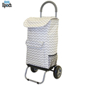 High quality reusable grocery collapsible rolling trolley shopping bag luggage with cover design
