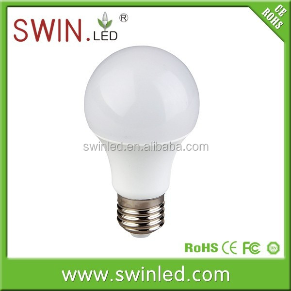 A60 high CRI PF>0.9 saving e27 7w led lighting bulb daily home use products