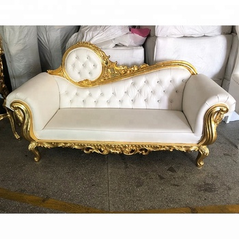 Luxury Royal Style Golden Silver sofa set furniture for Wedding