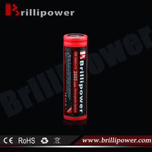 Brillipower Li-Ion 18650 Battery: 3.7V 2000mAh (8.14Wh, 1x18650) with PCM for Light Curing Unit