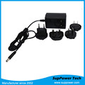 10 Volt 2.4 amp Single Output AC DC Interchangeable Power Adapter for LED2