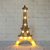 Indoor lights marquee lighting metal sign model of mini led Eiffel Tower for decoration