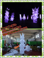 wedding stage decorations inflatable tree bamboo shoots lighting inflatable