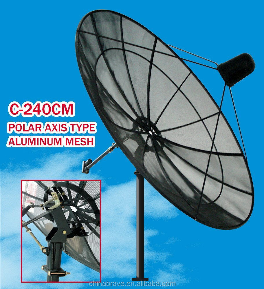 Good selling 240cm satellite dish c band dish tv antenna mesh dish antenna
