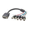 d-sub 15 pins vga to 5 female bnc connectors transimitter cable