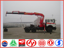 New north benze ng80 290hp 6*4 8ton cargo truck with sany new truck crane sale