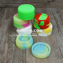 Newest Custom FDA approved food grade non-stick slick oil silicone wax dab container silicone containers small for good price