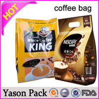 cafe beans oil aluminum foil bags for grinding roasted coffee bean packaging