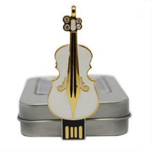 jewelry crystal violin shaped usb flash drive stick pen drive for gift
